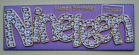 19th Birthday Large Dl Quick Card N 3D Decoupage CUP401420359 – Happy 19th Birthday Cards
