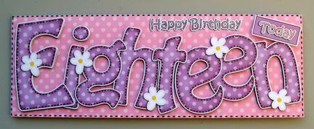 18th birthday large dl quick card n 3d decoupage cup401407 359