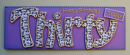 30th birthday large dl quick card n 3d decoupage cup401714359 photographs from the community bookmarktalkfo Images