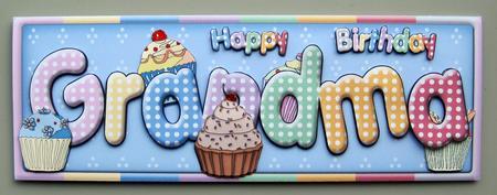 happy birthday grandma  cup  craftsuprint, Birthday card
