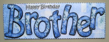 Large Dl Happy Birthday Brother Card 3D Decoupage – Happy Birthday Brother Cards