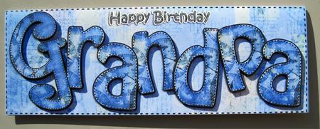 Large Dl Happy Birthday Grandpa Card 3D Decoupage – Happy Birthday Grandpa Card