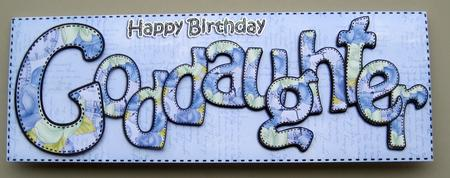 Large Dl Happy Birthday Goddaughter Card Amp 3d Decoupage