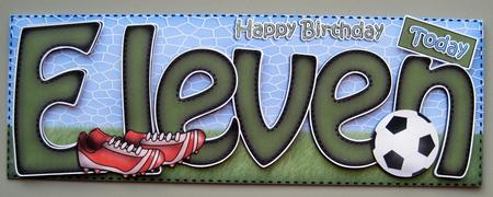 11th Birthday Football Large Dl Quick Card N 3D Decoupage – 11th Birthday Cards