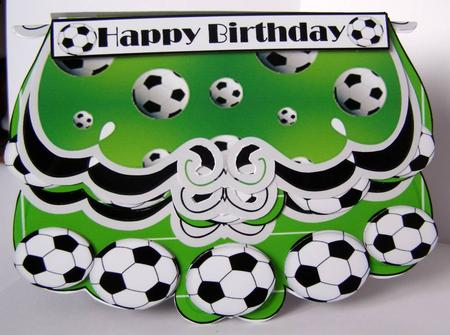 fold and flip soccer happy birthdaysoccer mad  cup, Birthday card