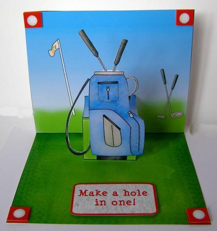 Free Printable Birthday Card Golf