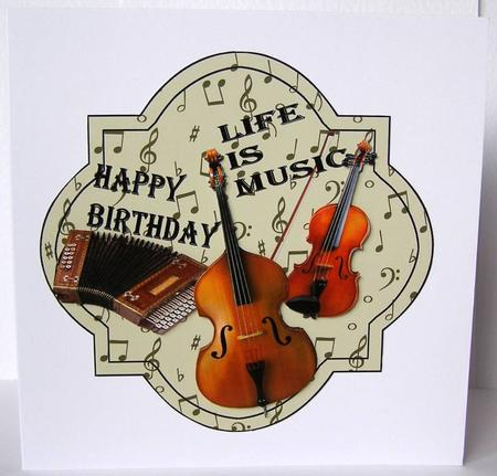 Music Happy Birthday Male Card
