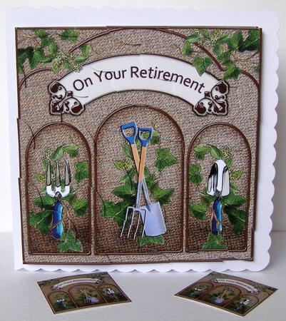8 X 8 Gardening Retirement Scalloped Corner Kit