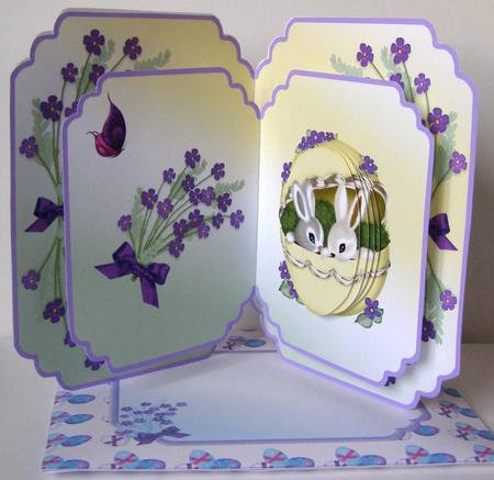 Easter Bunnies Popup Kit CUP3871211648 – Easter Pop Up Cards