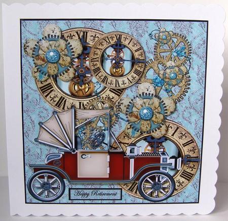 Steampunk Birthday Time CUP401174936 – Steampunk Birthday Card