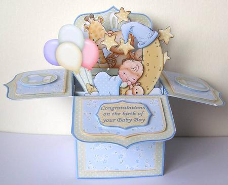 New Baby Boy Pop Up Box Card 7 5 Cup564888 68 Craftsuprint
