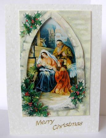 Traditional Christmas Nativity Decoupage Sheet Cup23022