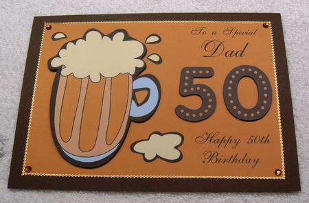 50th Birthday Card For Dad With Pint Of Beer Photo By Margaret Scott