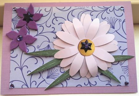 Lilac daisy 3d paper flower photo by marijke kok mightylinksfo