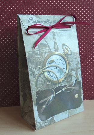 Gift Bag Vintage Male Items Cup126186 351 Craftsuprint