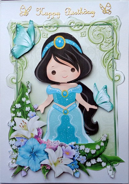 Pretty Princess With Butterflies And Flowers Cup660984