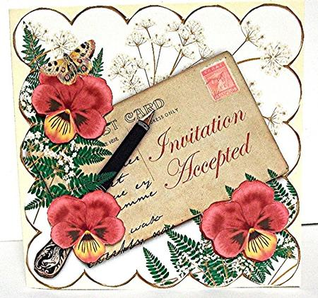 D red pansy ink saver invitation accepted 6in step by step photo d red pansy ink saver invitation accepted 6in step by step photo by maxine jones stopboris Gallery