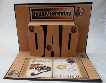 Birthday Dad Pop Up Of Vintage Car Steampunk Cup411523415