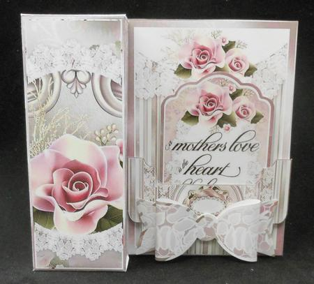 Elegant mother 39 s day all in one gift box card bow tag for Classy mothers day cards