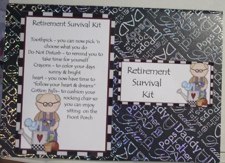 Retirement Survival Kit Male Man Cup876257 43589