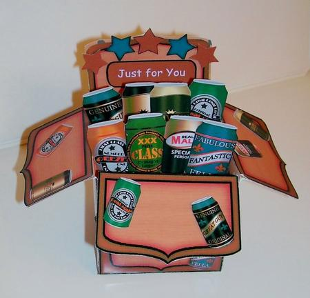 3d Beer Cans Rubber Band Pop Up Box Card Cup544019 359