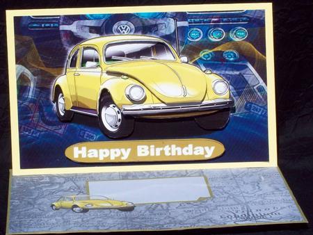 happy birthday nephew volkswagen beetle classic car yellow cup craftsuprint