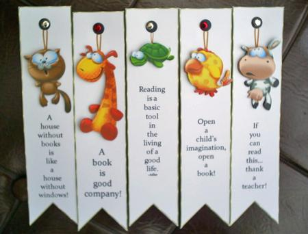 Animal bookmarks for kids kit cup65403 99 craftsuprint for Cool ways to make bookmarks