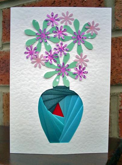 oriental vase iris folding pattern