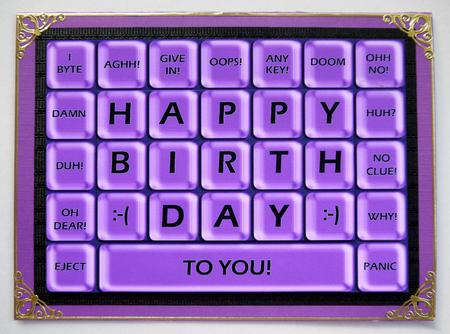 A4 Novelty Fun Computer Keyboard Greetings Card Topper