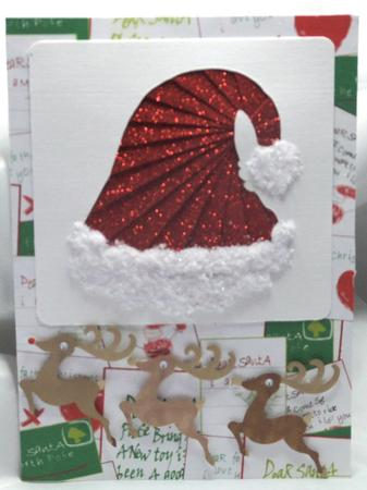 Christmas Santa Hat Iris Folding Pattern Cup23095 172