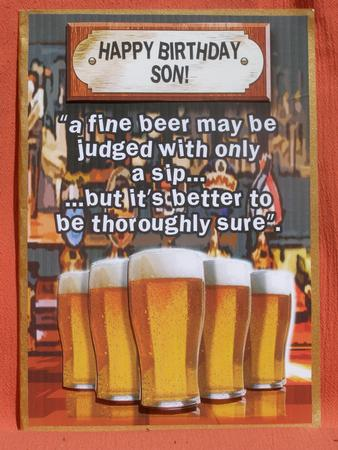 Happy Birthday Son Pints Of Beer Photo By Susan Smith