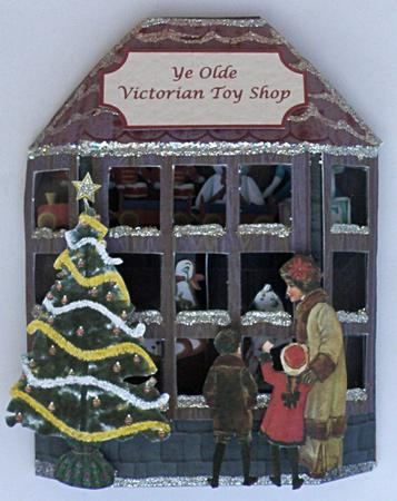 3d Victorian Toy Shop Window Card Cup162413 905