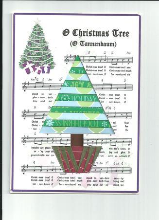 No-trace Christmas Tree Iris Folding Pattern - Photo by ...