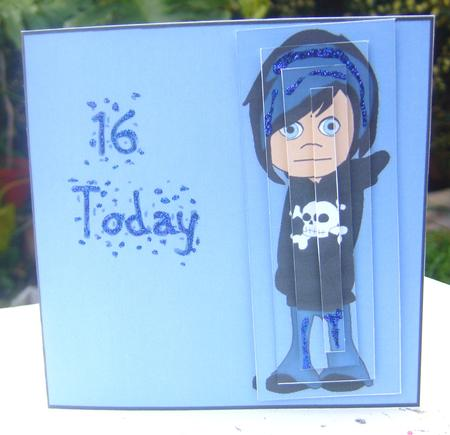 Emo 16th birthday card boy cup87642822 craftsuprint photographs from the community bookmarktalkfo Images