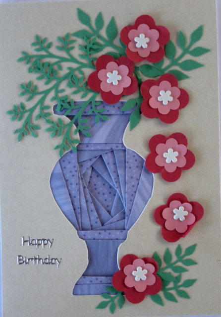 Vase 3 Iris Folding Pattern