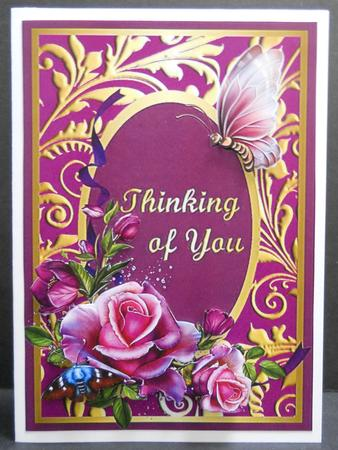 Thinking of You Romantic Roses Card Front - CUP394803_174 ...