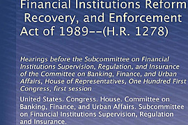 Financial Institutions Reform, Recovery and Enforcement Act of 1989