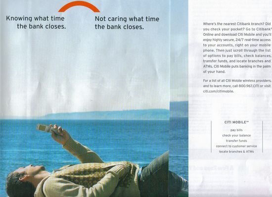 Citibank Goes Mobile in National Print Advertising - Finovate
