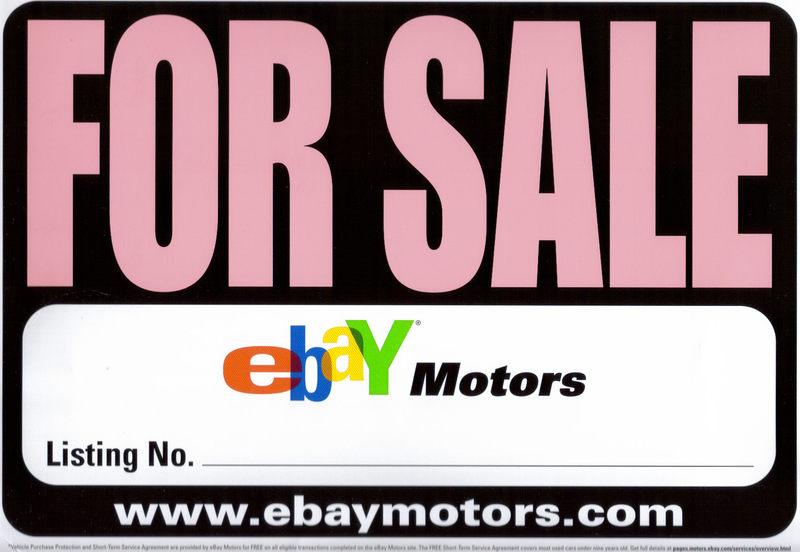 Ebay Motors For Sale Sign Direct Mail Finovate