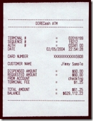 A Year's Worth of Fake ATM Receipts for $15 - Finovate