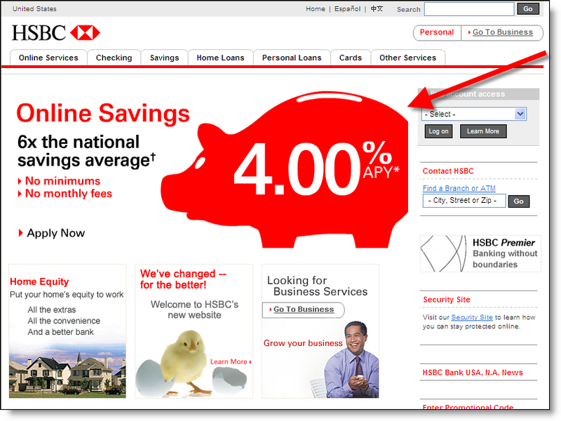 Four Banks with 4% for Homepage Special Savings Rate - Finovate