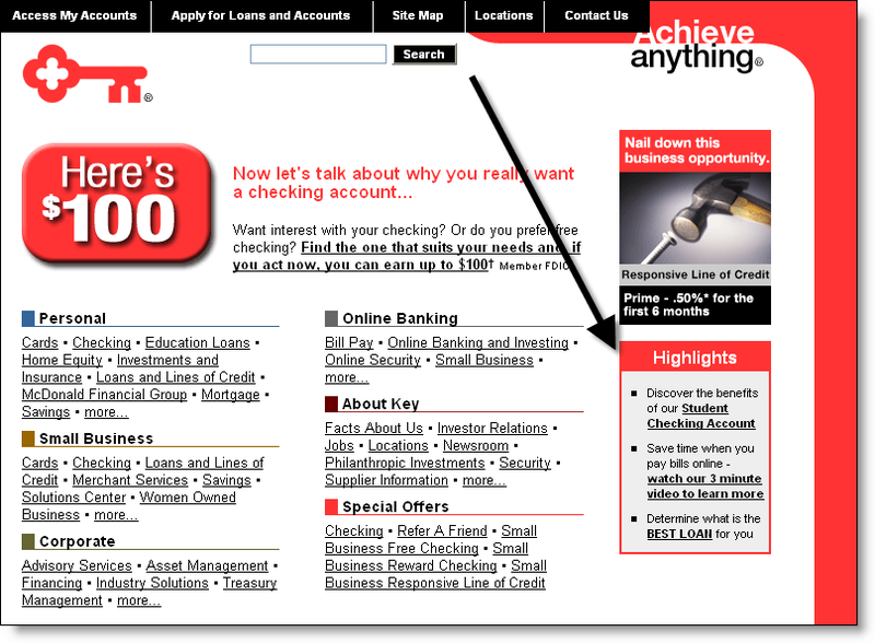 The best checking option for keybank