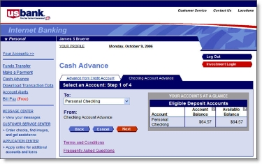 U S  Bank Adds Payday Loans to Online Banking - Finovate