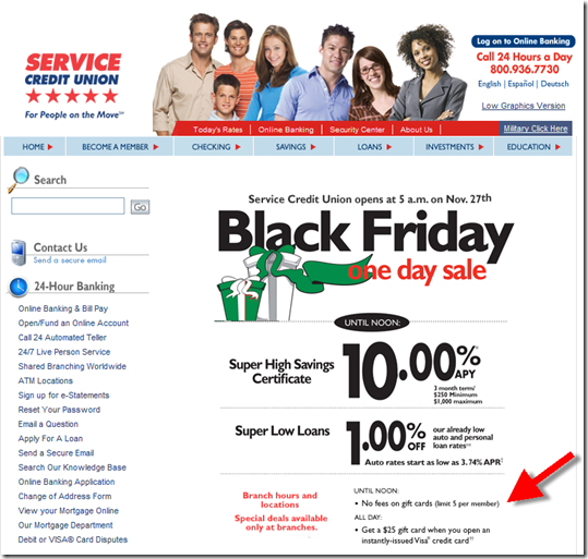 Another Black Friday Banking Special Service Credit Union Finovate
