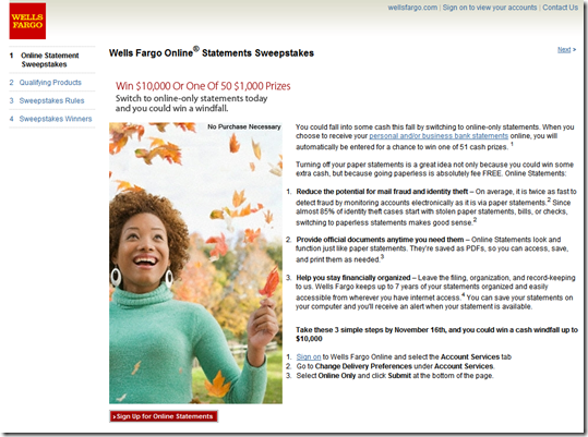 BB&T Pushes Online Statements on Homepage - Finovate