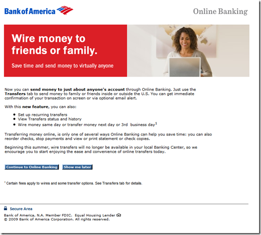 Bank of America to Eliminate Wire Transfers from nches ... Is Wiring Money The Same As Transferring on