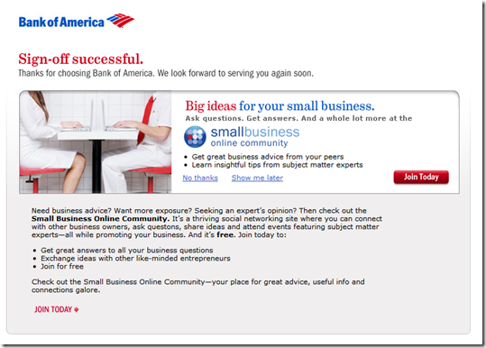 bank of america online banking small business
