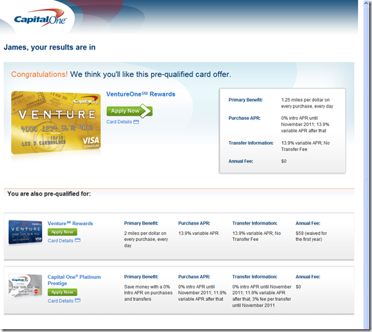 Capital One Pre Qualify >> Capital One S Online Prequalification System Rocks Finovate
