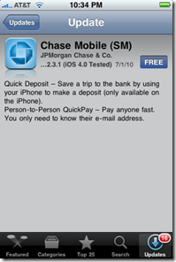 Chase Adds Mobile Remote Deposit Capture and P2P Payments to its