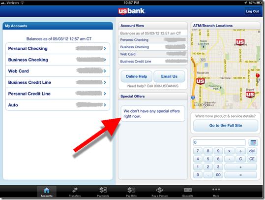 First Look: U S  Bank's New iPad App - Finovate